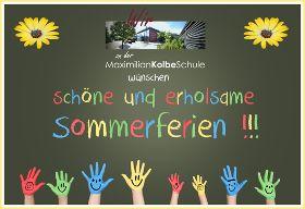 Wir wünschen schöne und erholsame Sommerferien